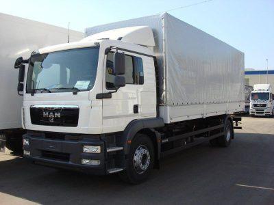 Фургон MAN TGM 18.240 (Тент) белый/красный