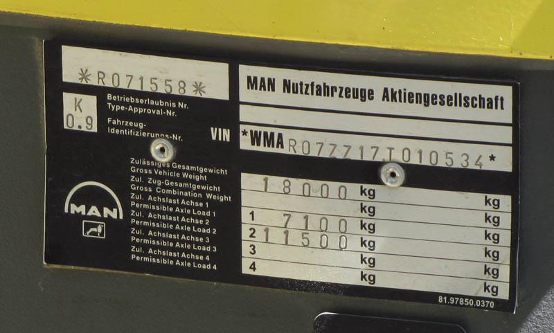 Подбор запасных частей MAN по VIN